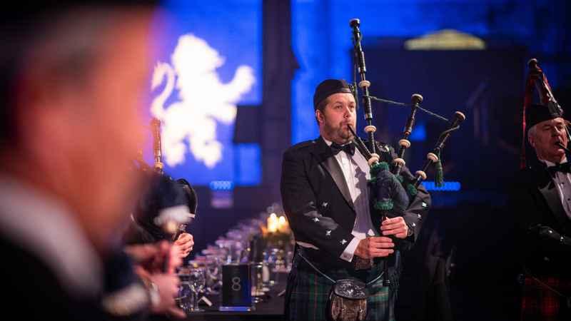 Gala Highland Ball Piper