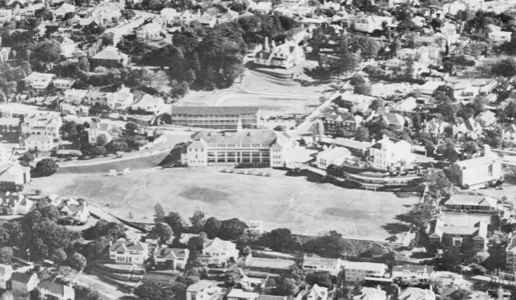 Aerial photo of Scots College from the 60's