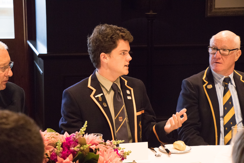 Max Samengo and Ian Bonnette converse